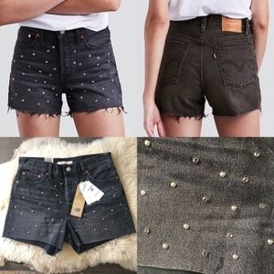 NWT Levi's Bling Bling Wedgie High Rise Shorts 29